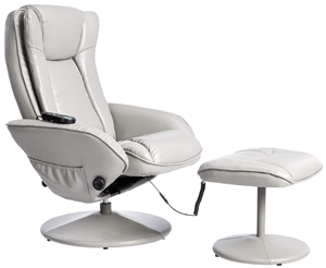 Jc hom leather recliner with footrest