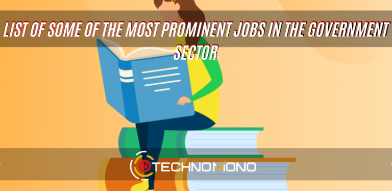 Most prominent jobs in the government sector