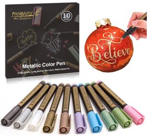 Pandafly metallic marker pens