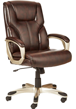 amazon basics high back executive swivel desk chair