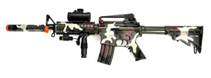 camo m4 m16 airsoft sniper rifle