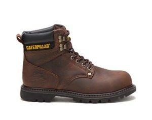 caterpiller second shift steel toe work boot