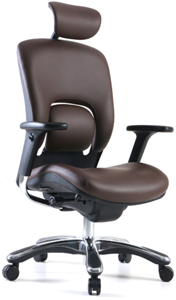 gm seating ergolux genuine leather executive high swivel chair