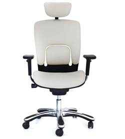 gm seating genuine leather high swivel office chair