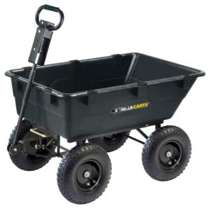 gorilla carts gor866d garden poly dump cart