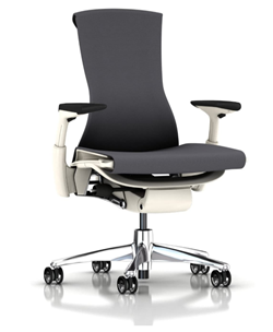 herman miller ergonomic office chair with white frame