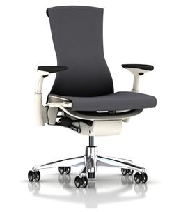 herman miller ergonomic office chair with white frame