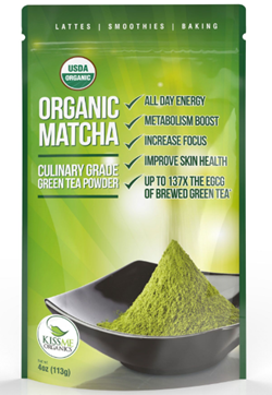 kiss me organic matcha green tea