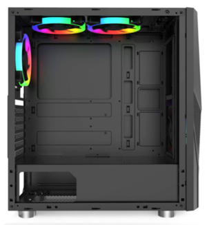montech fighter 500 black atx computer gaming case review
