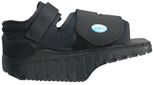 orthowedge forefoot off loading healing shoe