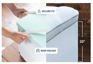 serene memory foam hybrid mattress topper