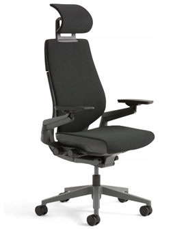 steelcase gesture office chair with headrest and lumbar support