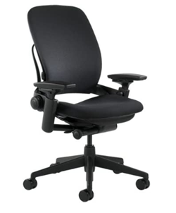 steelcase leap fabric office chair for back pain