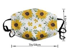 yellow sunflower dust mask for protection against flu and coronavirus